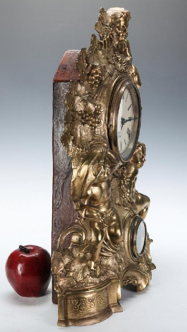 A NICHOLAS MULLER CAST IRON CLOCK WITH PUTTI - 9