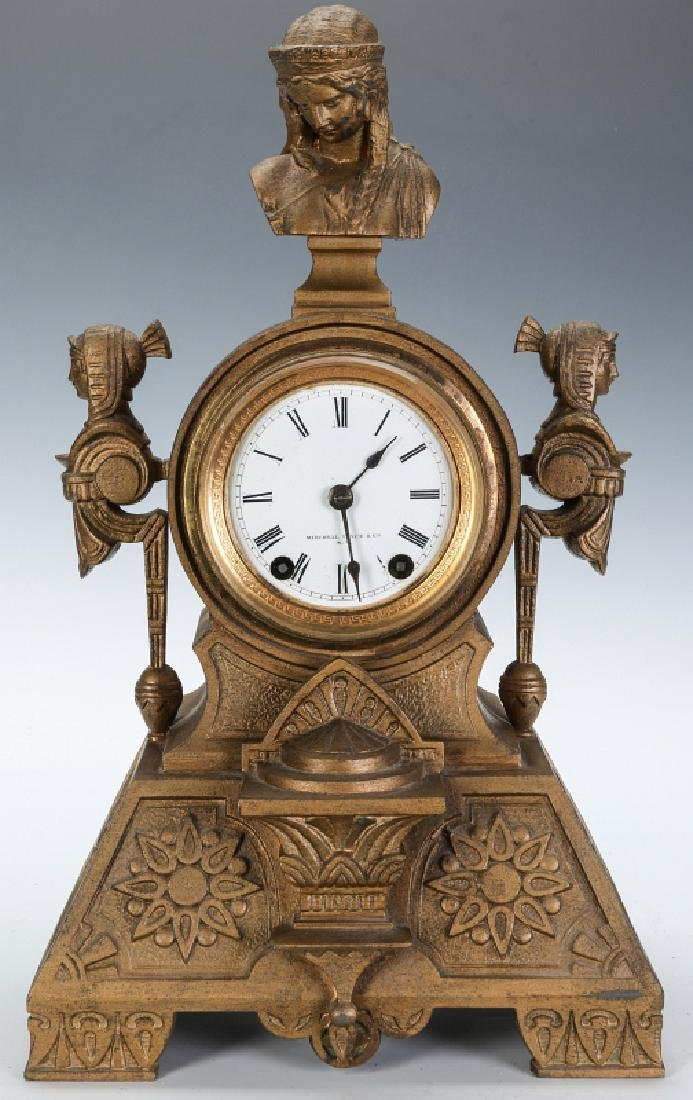 MITCHELL VANCE SETH THOMAS EGYPTIAN REVIVAL CLOCK