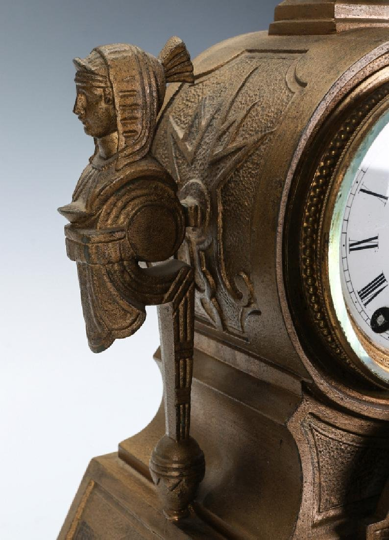 MITCHELL VANCE SETH THOMAS EGYPTIAN REVIVAL CLOCK - 4