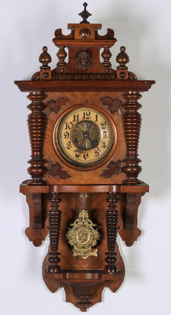 A SCHLENKER KIENZLE GERMAN OPEN WAG WALL CLOCK