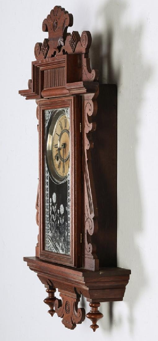 AN ANSONIA 'TRINIDAD' FANCY HANGING PARLOR CLOCK - 10