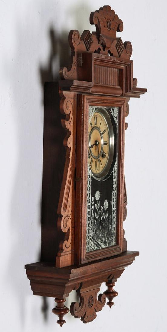 AN ANSONIA 'TRINIDAD' FANCY HANGING PARLOR CLOCK - 11