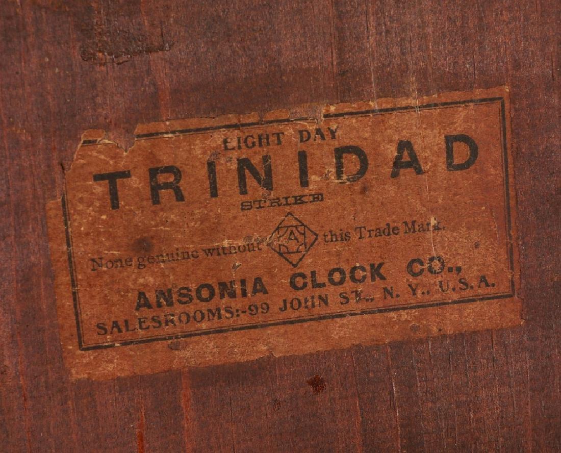 AN ANSONIA 'TRINIDAD' FANCY HANGING PARLOR CLOCK - 16