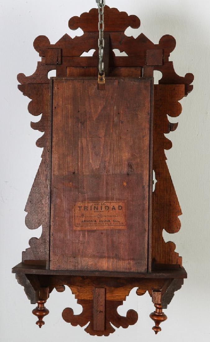 AN ANSONIA 'TRINIDAD' FANCY HANGING PARLOR CLOCK - 17