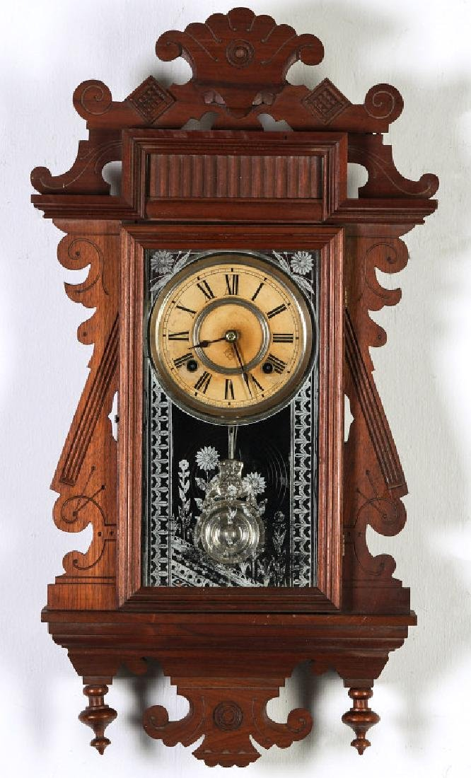 AN ANSONIA 'TRINIDAD' FANCY HANGING PARLOR CLOCK