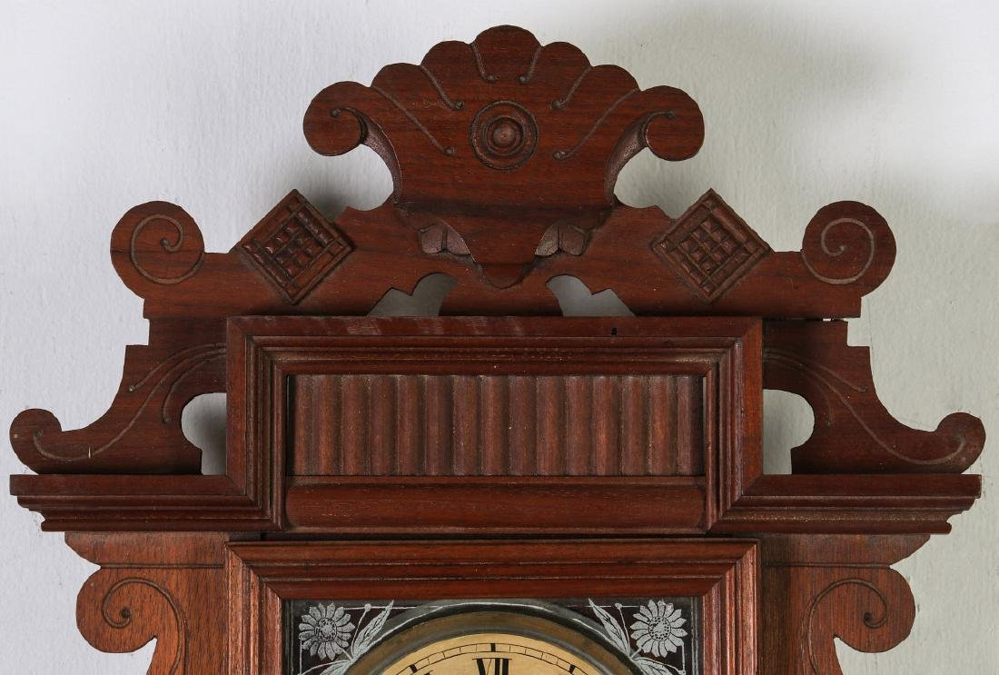 AN ANSONIA 'TRINIDAD' FANCY HANGING PARLOR CLOCK - 2