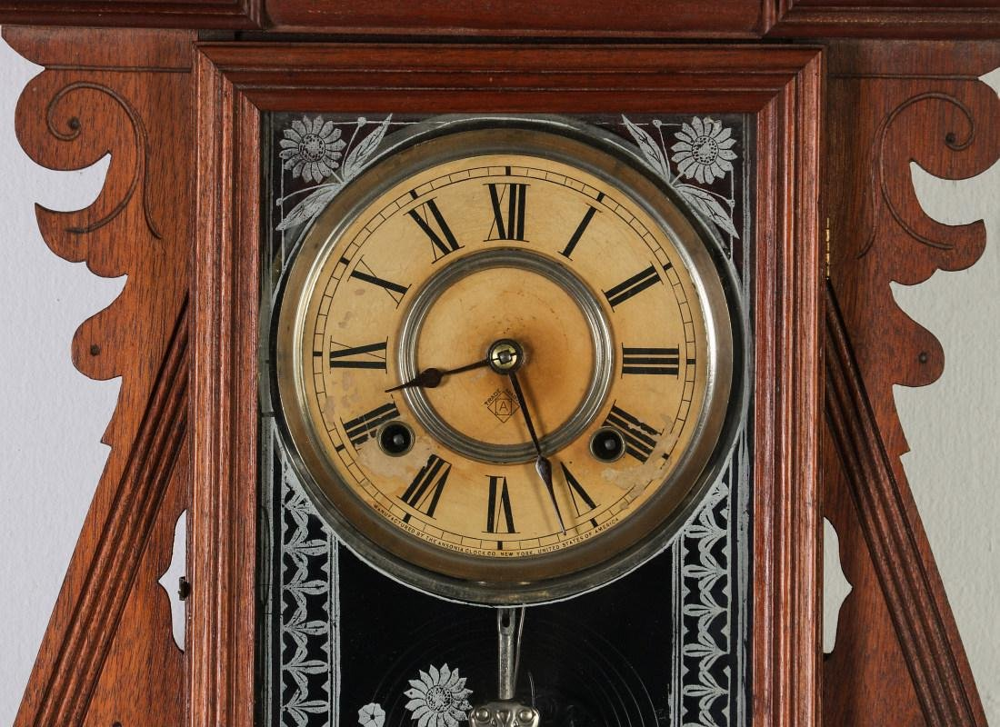 AN ANSONIA 'TRINIDAD' FANCY HANGING PARLOR CLOCK - 3