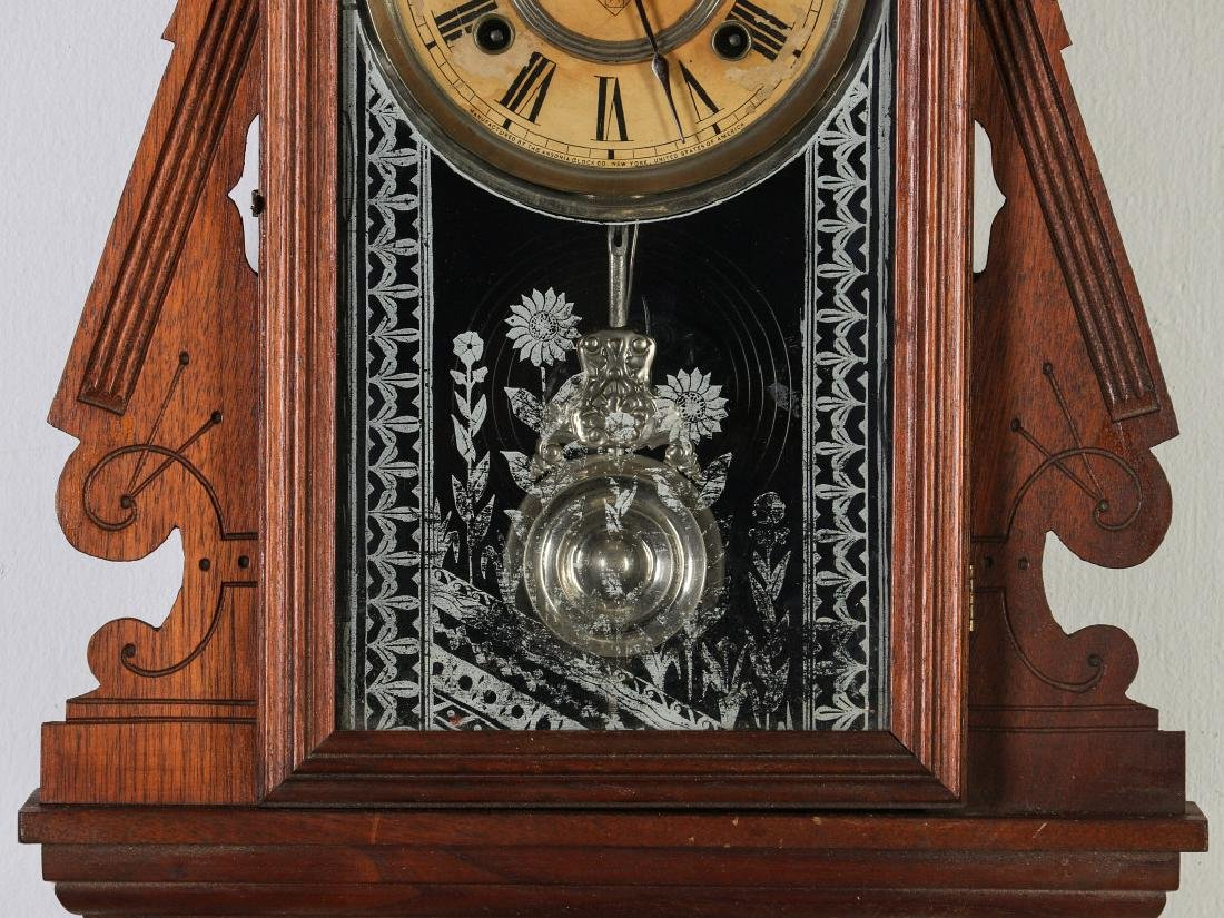 AN ANSONIA 'TRINIDAD' FANCY HANGING PARLOR CLOCK - 4