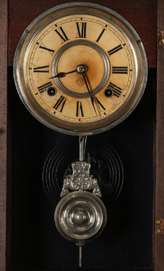 AN ANSONIA 'TRINIDAD' FANCY HANGING PARLOR CLOCK - 6