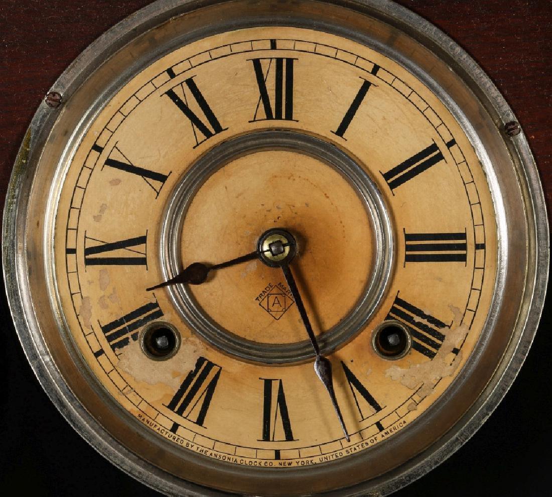 AN ANSONIA 'TRINIDAD' FANCY HANGING PARLOR CLOCK - 7