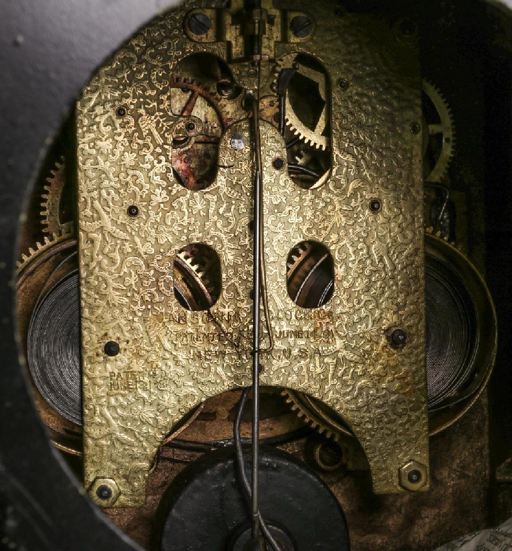 AN ANSONIA 'COLUMBIA' MASSIVE FIGURAL MANTEL CLOCK - 15