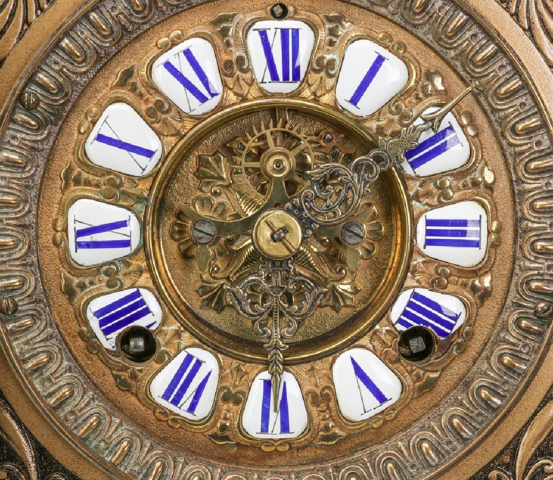 AN ANSONIA 'COLUMBIA' MASSIVE FIGURAL MANTEL CLOCK - 8