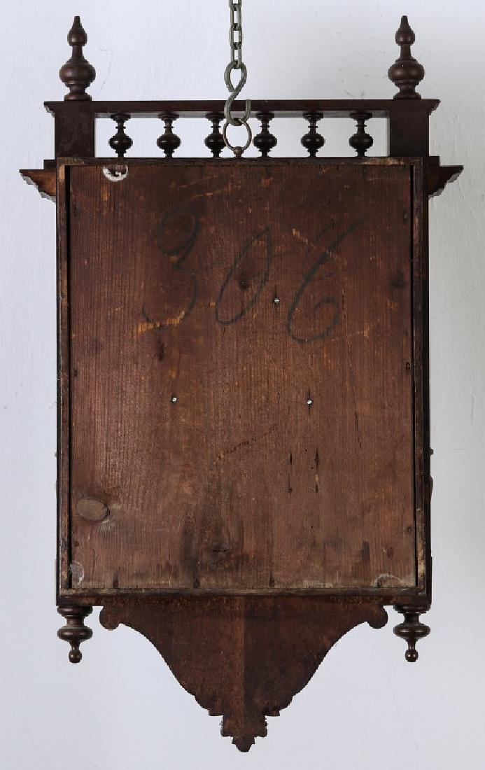 A 19TH CENTURY GERMAN BLACK FOREST WALL CLOCK - 13