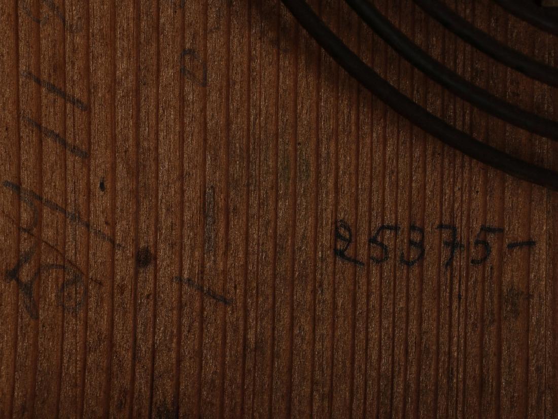 A 19TH CENTURY GERMAN BLACK FOREST WALL CLOCK - 8
