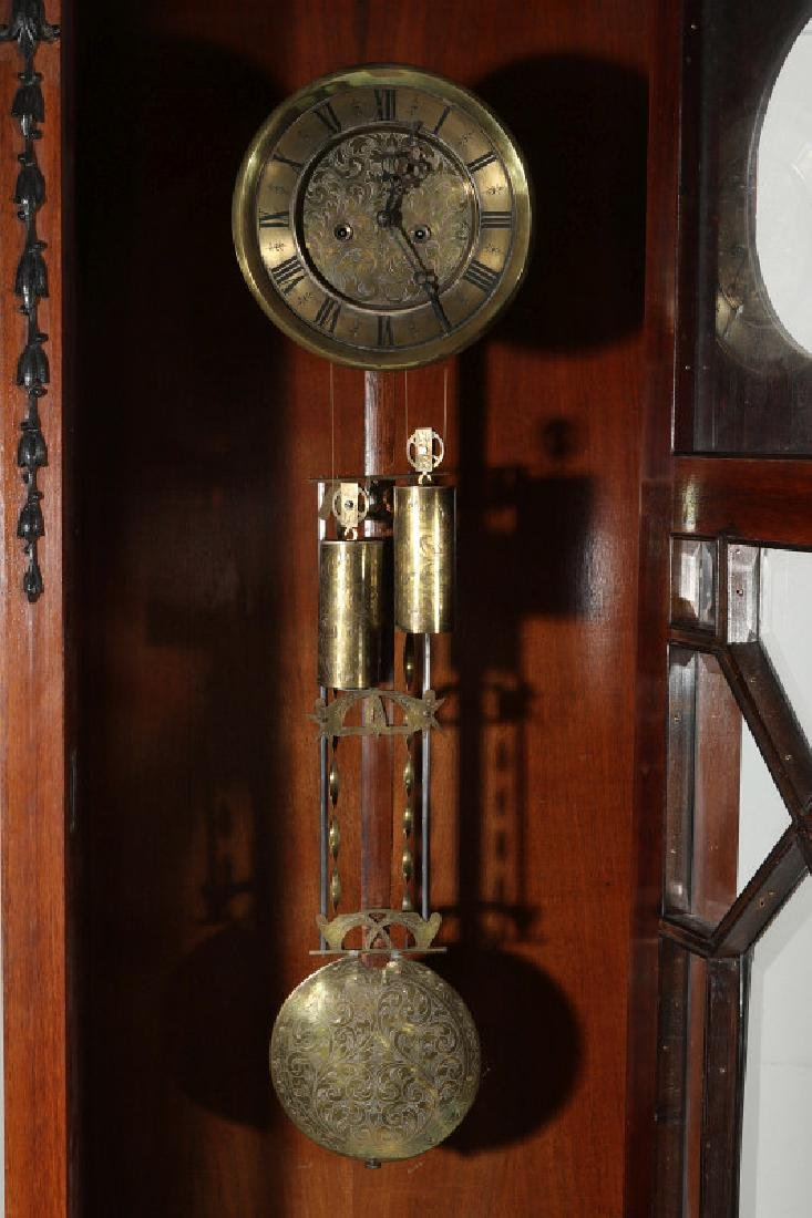 AN EARLY 20TH C. FLOOR STANDING TWO WT REGULATOR - 5