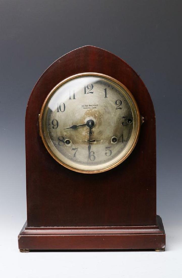 A SETH THOMAS FOUR-BELL SONORA CHIME SHELF CLOCK