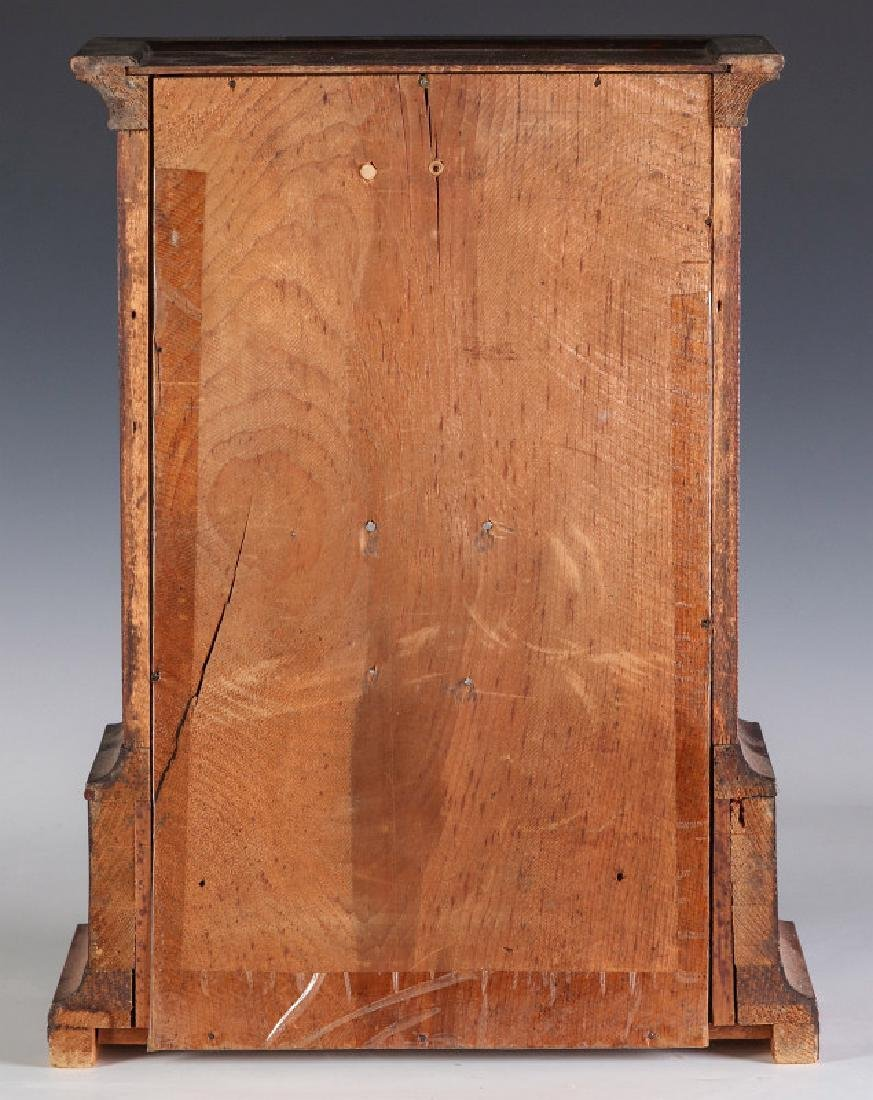 A MID 19TH CENT ROSEWOOD CLOCK ATTRIB TO ATKINS - 10