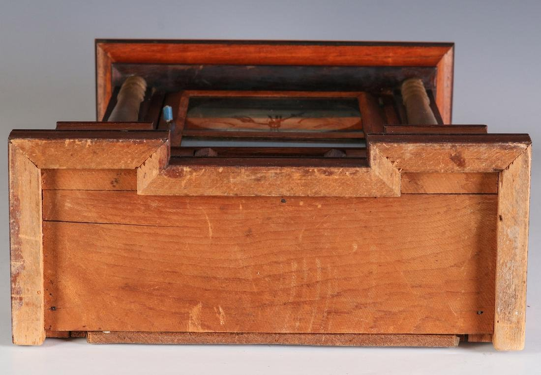 A MID 19TH CENT ROSEWOOD CLOCK ATTRIB TO ATKINS - 12