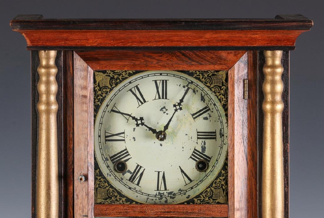 A MID 19TH CENT ROSEWOOD CLOCK ATTRIB TO ATKINS - 2