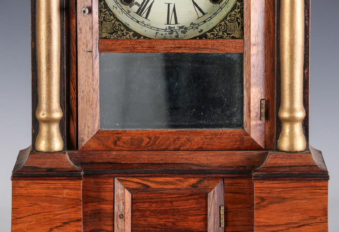 A MID 19TH CENT ROSEWOOD CLOCK ATTRIB TO ATKINS - 3