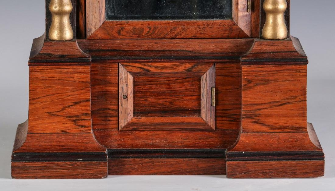 A MID 19TH CENT ROSEWOOD CLOCK ATTRIB TO ATKINS - 4