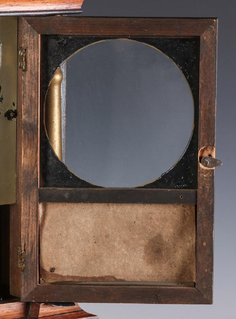A MID 19TH CENT ROSEWOOD CLOCK ATTRIB TO ATKINS - 5