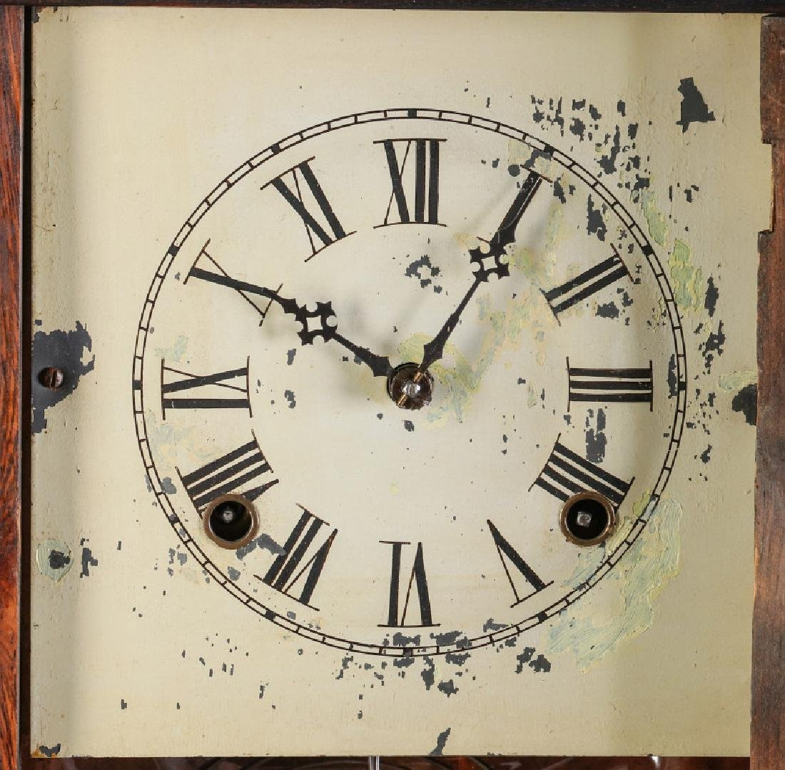 A MID 19TH CENT ROSEWOOD CLOCK ATTRIB TO ATKINS - 6