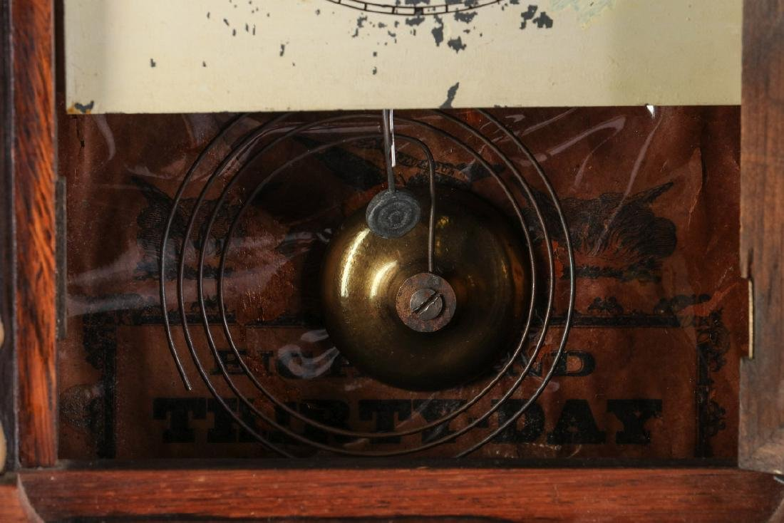 A MID 19TH CENT ROSEWOOD CLOCK ATTRIB TO ATKINS - 7
