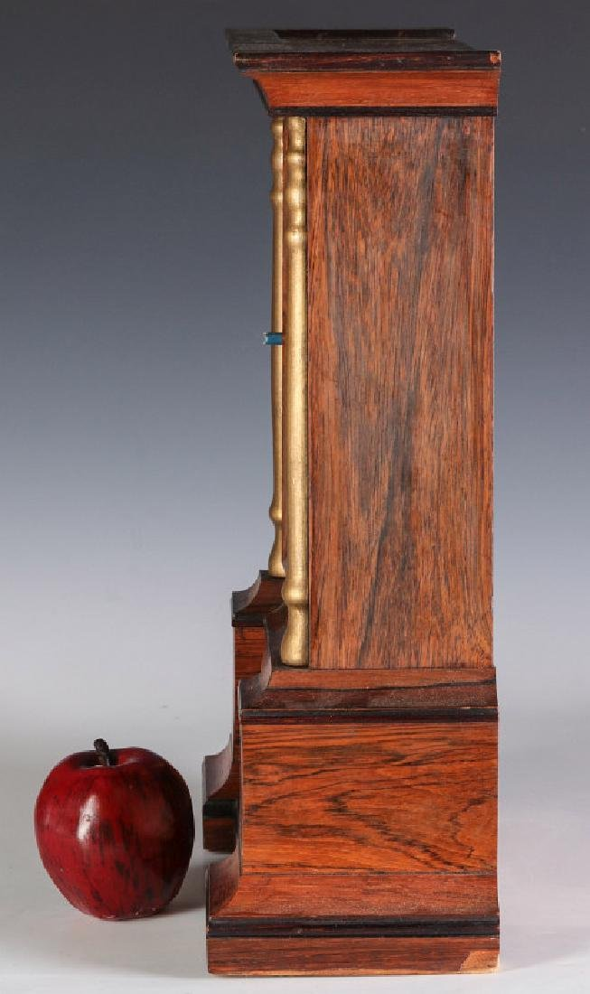 A MID 19TH CENT ROSEWOOD CLOCK ATTRIB TO ATKINS - 9