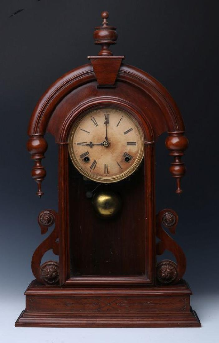 JAMES WOOD AMERICAN CLOCK CO FANCY PARLOR CLOCK