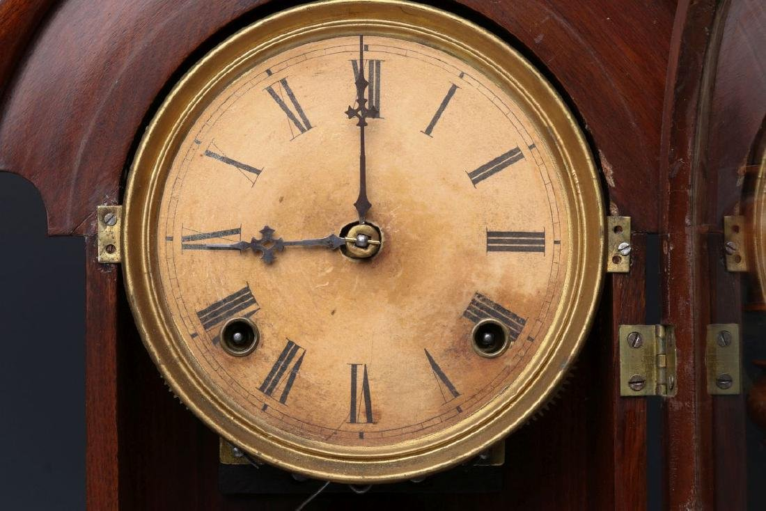 JAMES WOOD AMERICAN CLOCK CO FANCY PARLOR CLOCK - 6