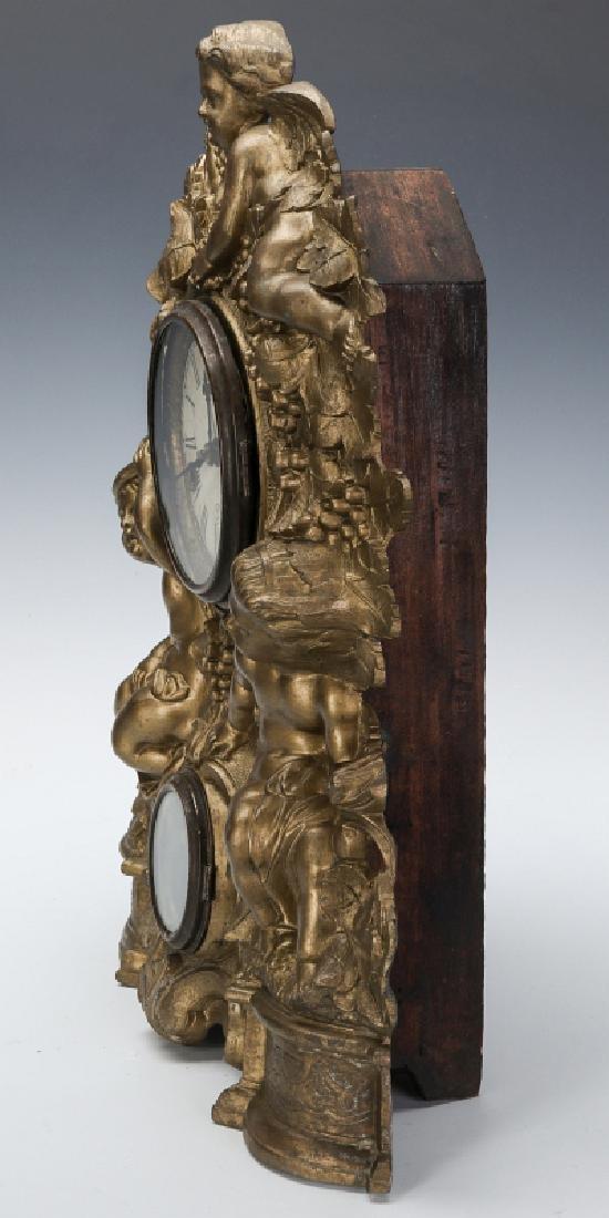 A NICHOLAS MULLER CAST IRON CLOCK WITH PUTTI - 10