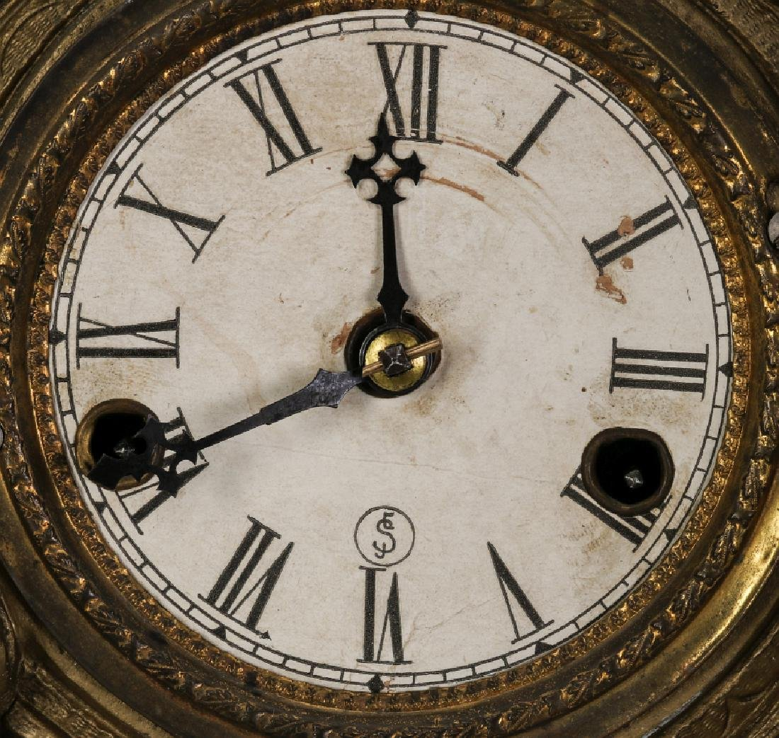 A NICHOLAS MULLER CAST IRON CLOCK WITH PUTTI - 8