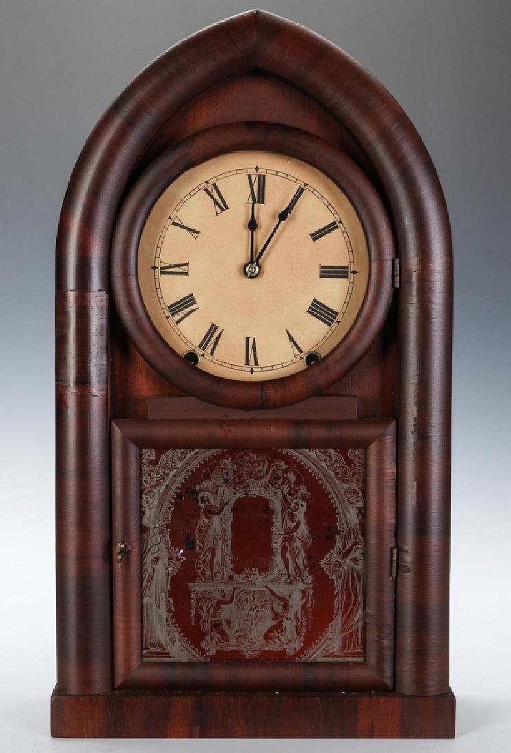 A WILLIAM L. GILBERT GOTHIC 'BEEHIVE' CLOCK