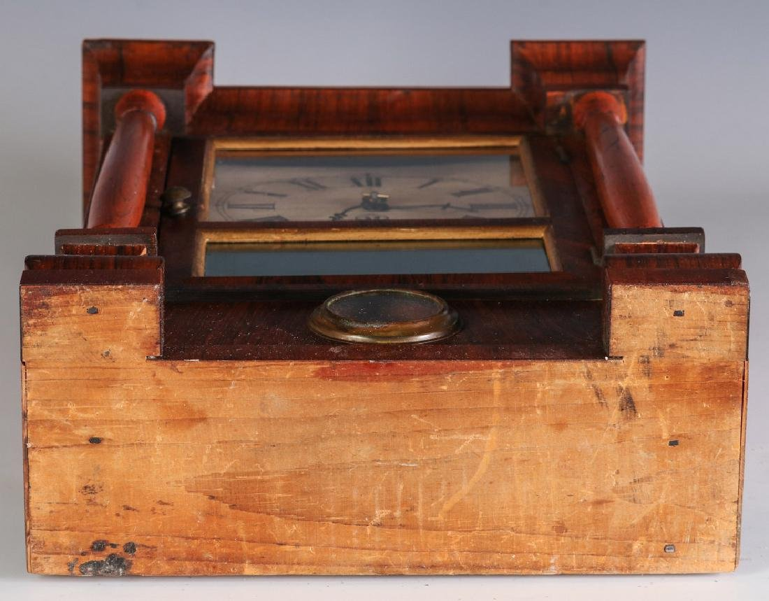 A SETH THOMAS ROSEWOOD COTTAGE CLOCK - 12