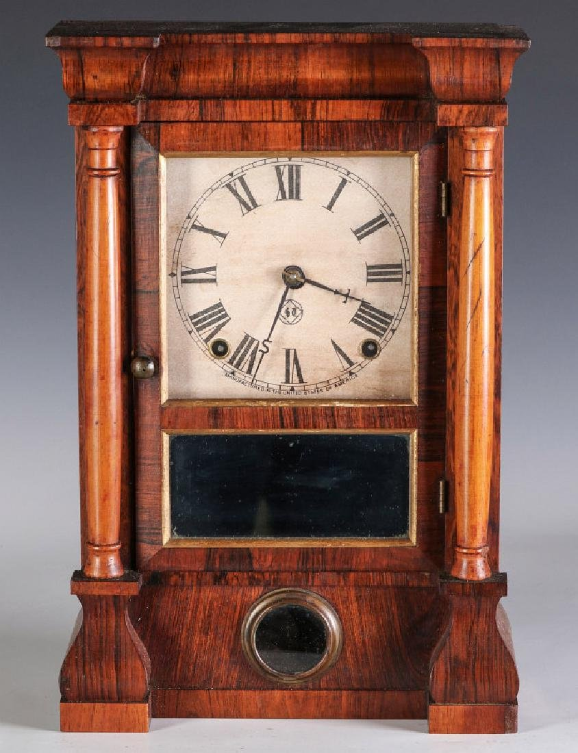 A SETH THOMAS ROSEWOOD COTTAGE CLOCK