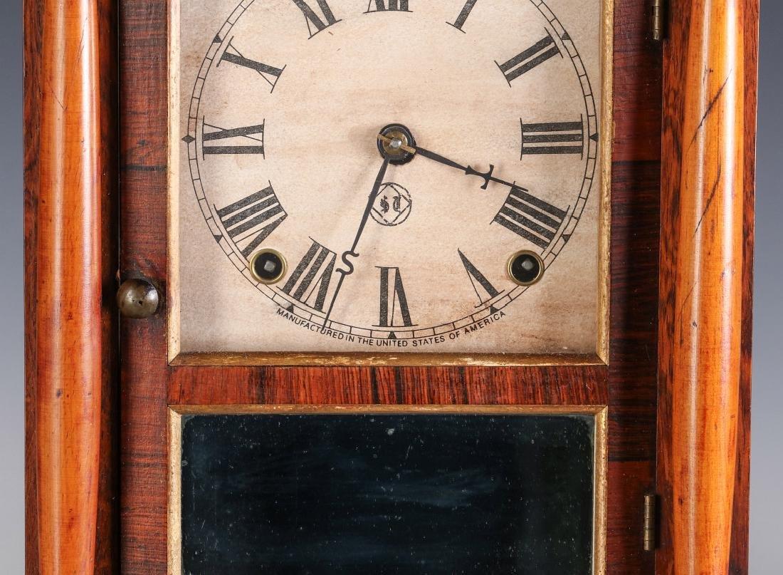 A SETH THOMAS ROSEWOOD COTTAGE CLOCK - 3