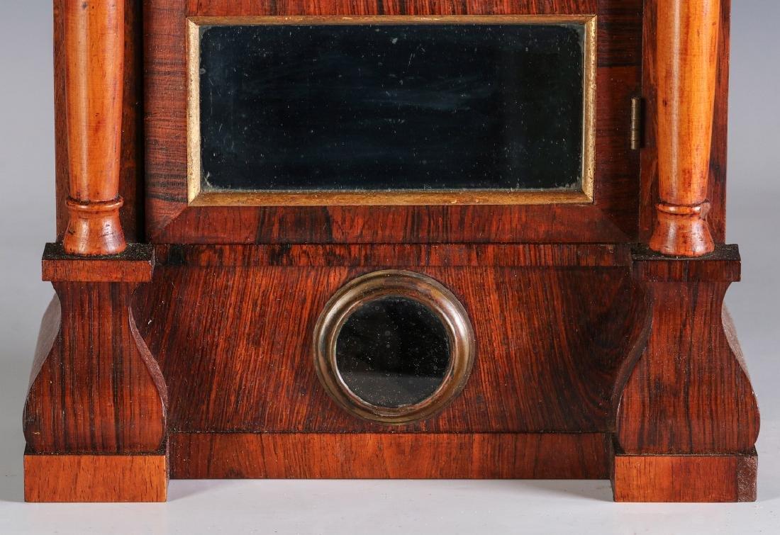 A SETH THOMAS ROSEWOOD COTTAGE CLOCK - 4