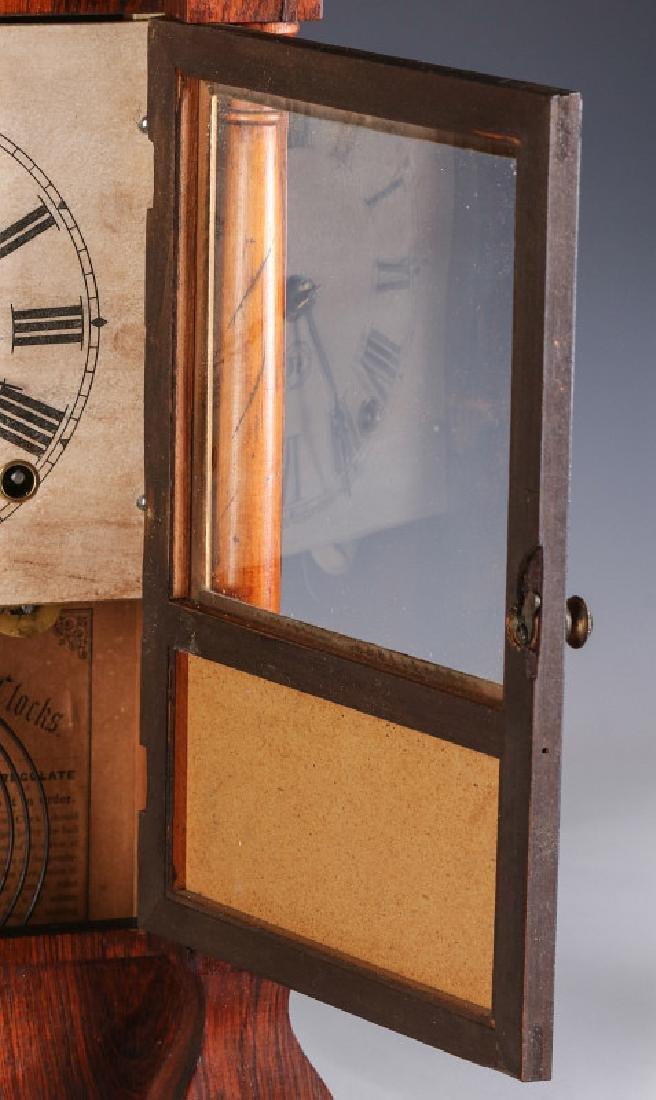 A SETH THOMAS ROSEWOOD COTTAGE CLOCK - 5