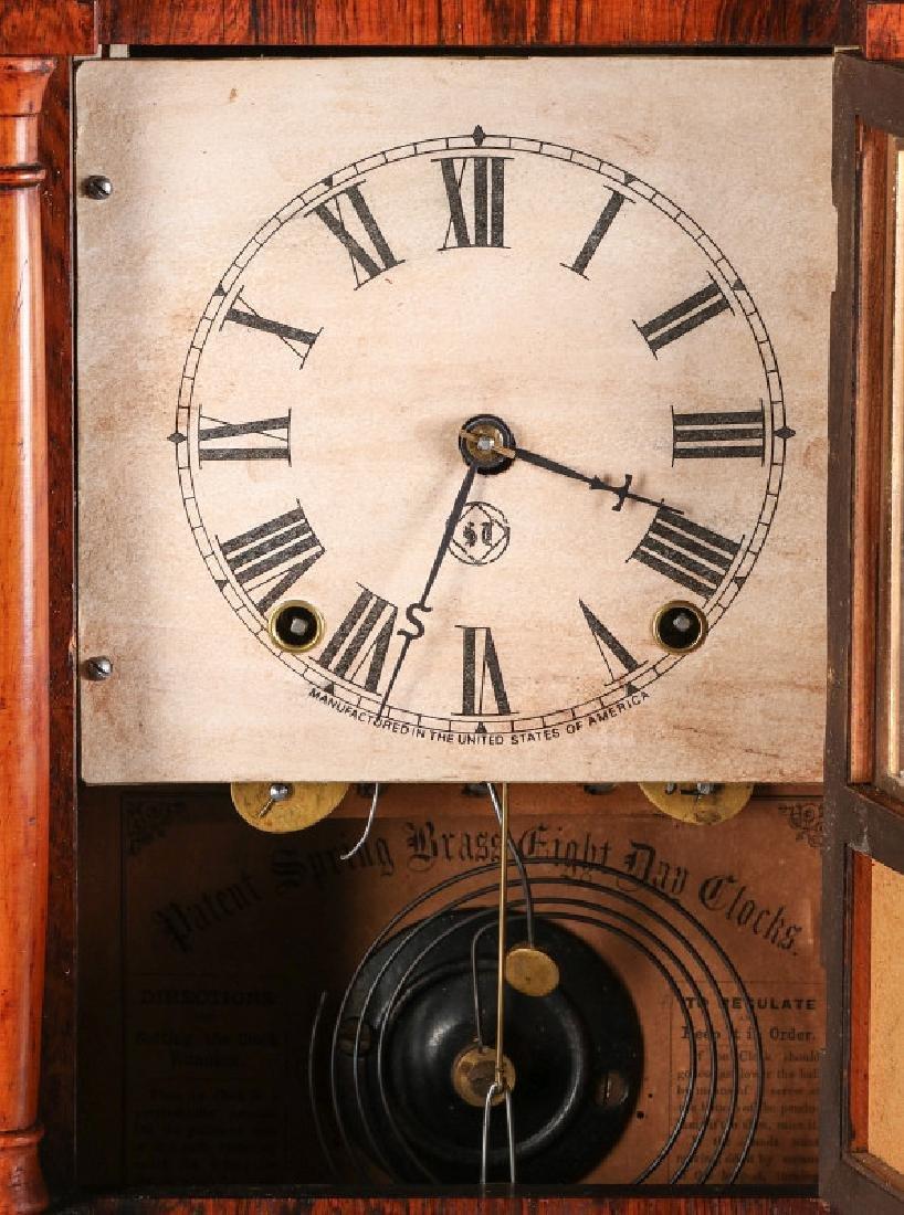 A SETH THOMAS ROSEWOOD COTTAGE CLOCK - 6