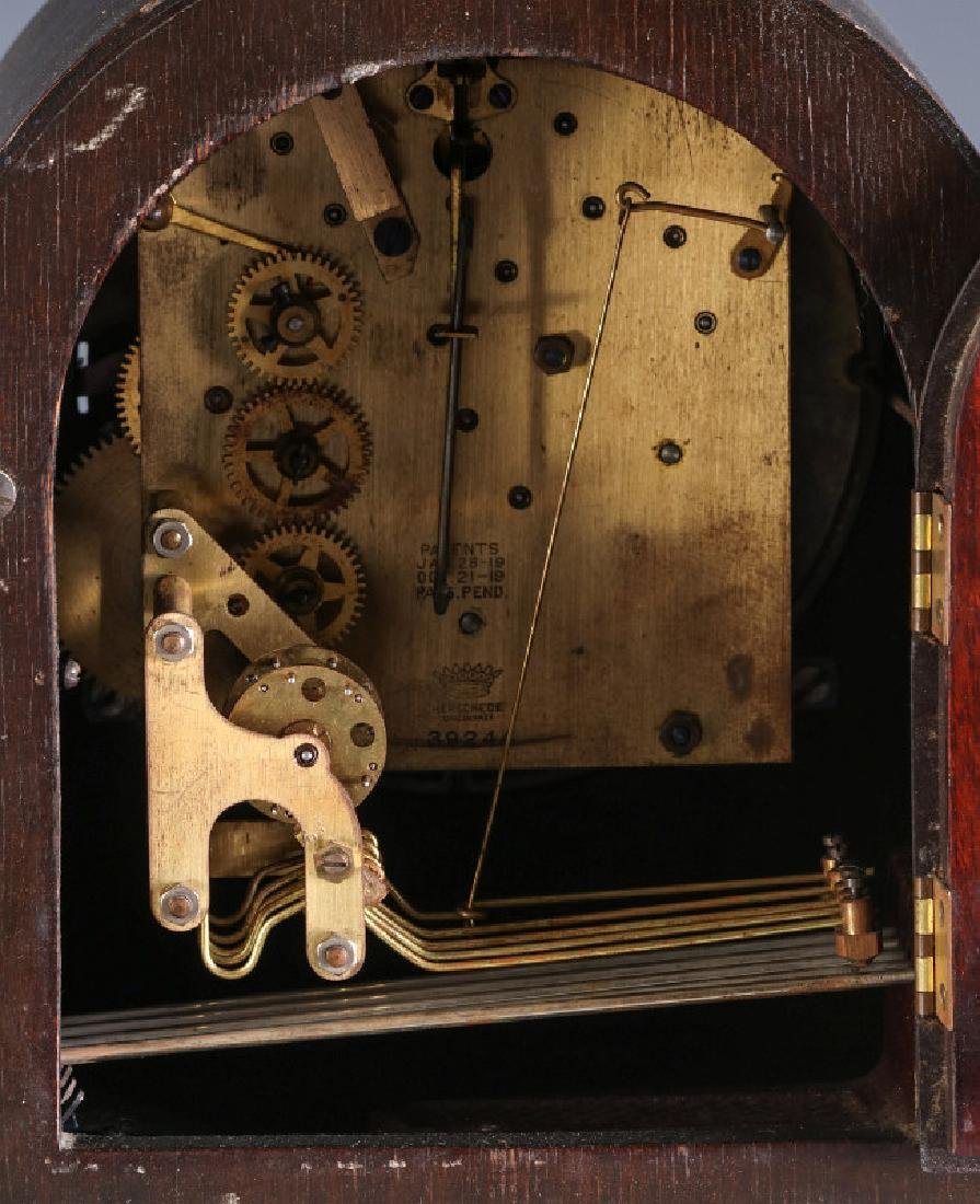 A HERSCHEDE TAMBOUR CLOCK WITH WESTMINSTER CHIME - 11