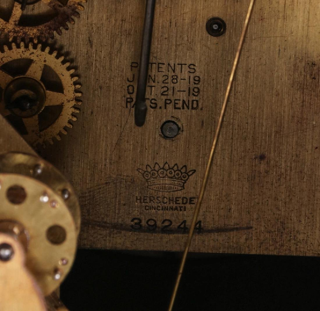 A HERSCHEDE TAMBOUR CLOCK WITH WESTMINSTER CHIME - 12