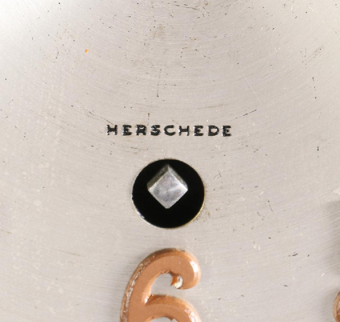 A HERSCHEDE TAMBOUR CLOCK WITH WESTMINSTER CHIME - 5
