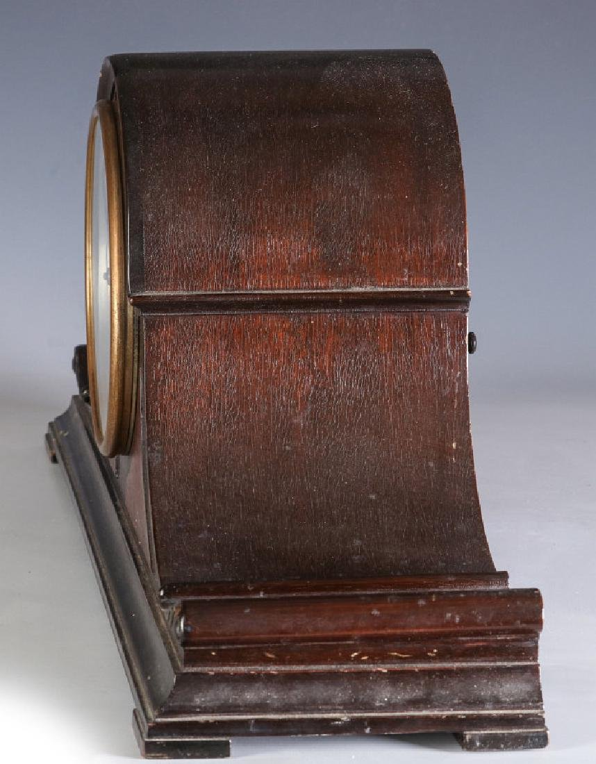 A HERSCHEDE TAMBOUR CLOCK WITH WESTMINSTER CHIME - 8
