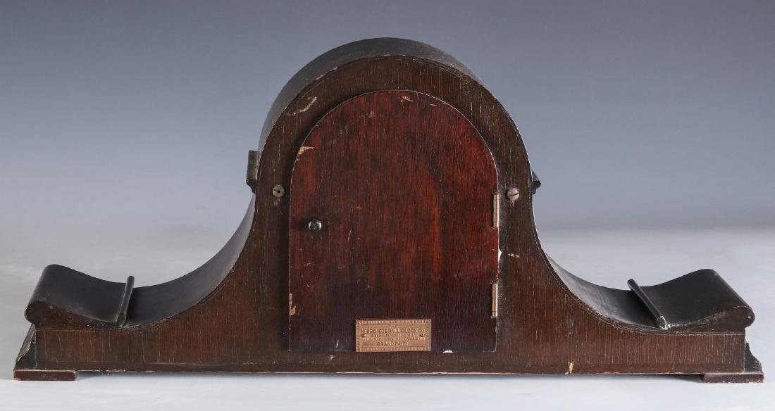 A HERSCHEDE TAMBOUR CLOCK WITH WESTMINSTER CHIME - 9