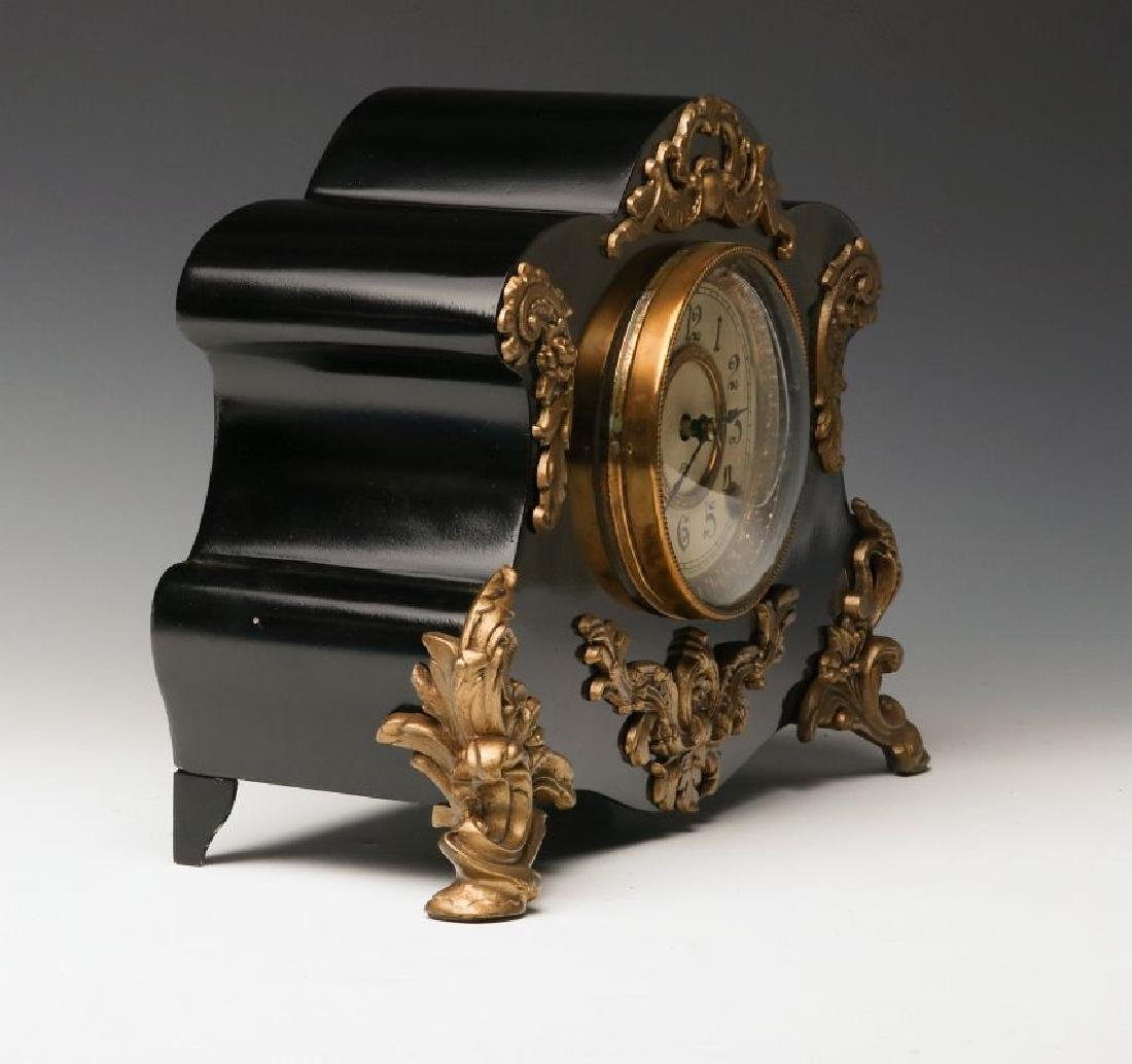 AN ANSONIA 'AMIENS' IRON MANTLE CLOCK - 2