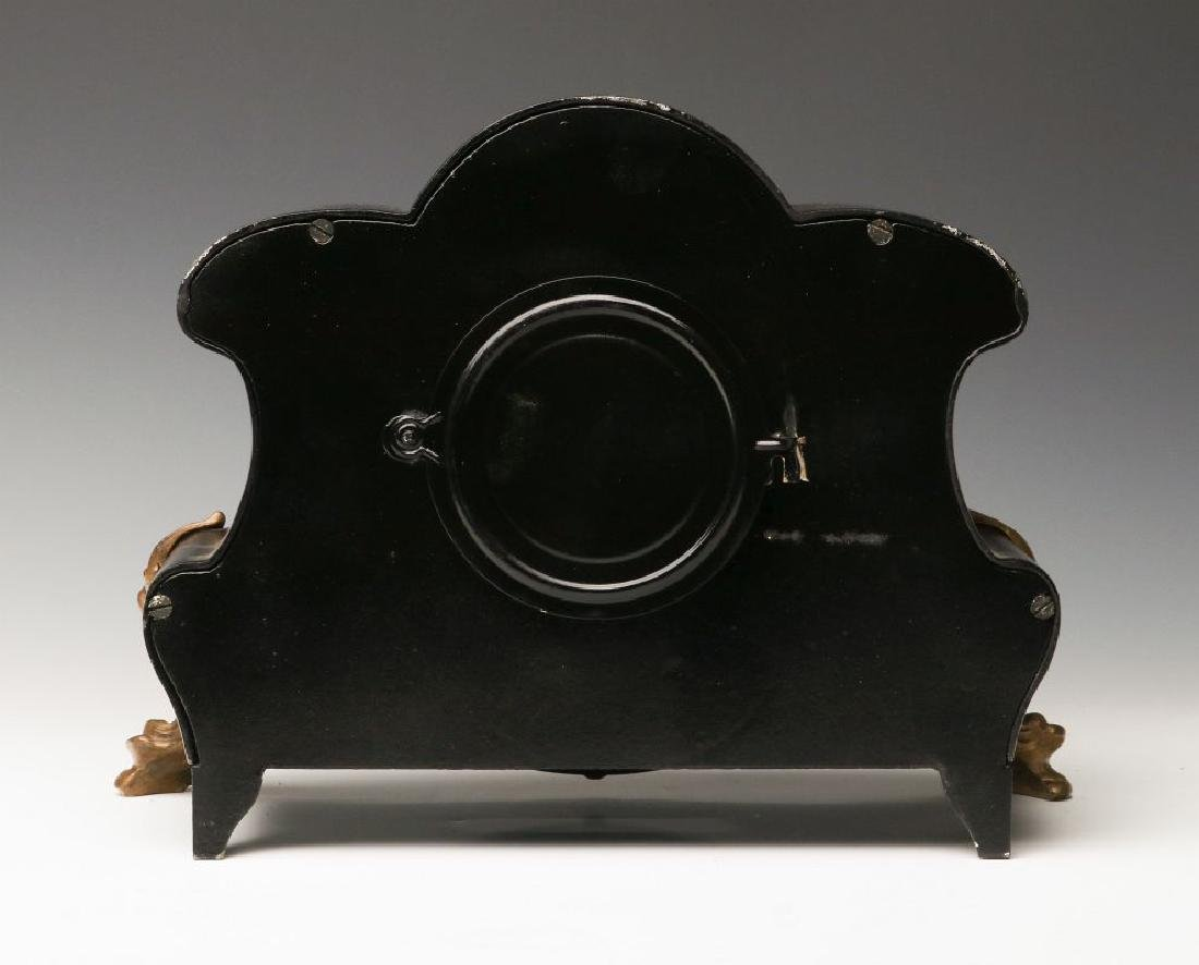 AN ANSONIA 'AMIENS' IRON MANTLE CLOCK - 3