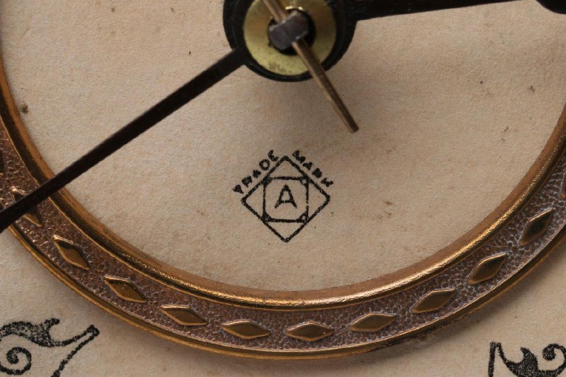 AN ANSONIA 'AMIENS' IRON MANTLE CLOCK - 8