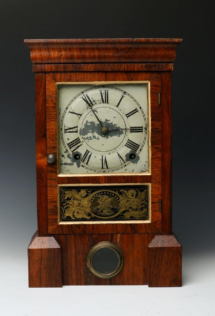 A SETH THOMAS PLYMOUTH HOLLOW COTTAGE CLOCK