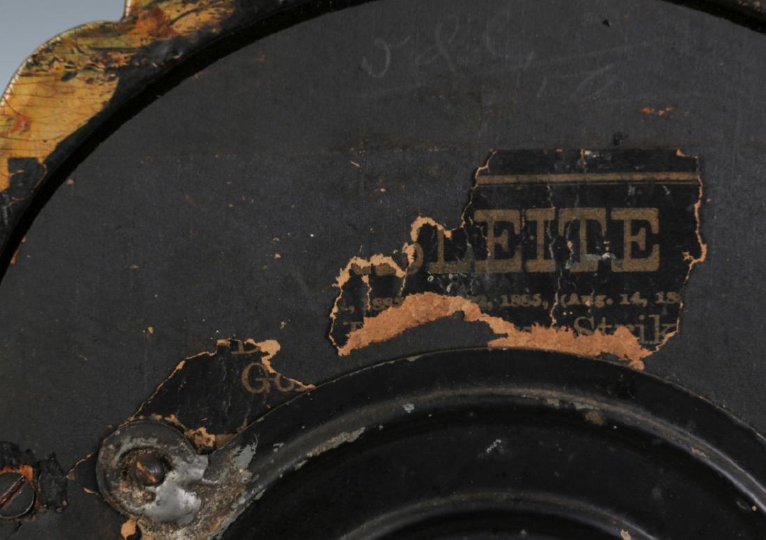AN ANSONIA MARBELITE NO. 5 FAUX MARBLE SHELF CLOCK - 12